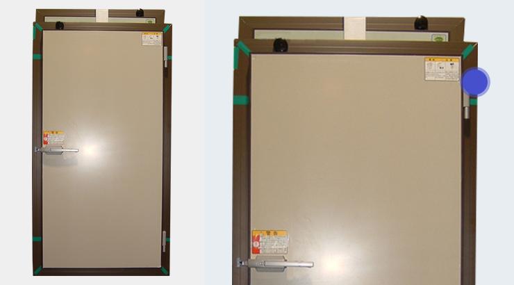 事例③:業務用冷蔵庫ドアパネル枠材